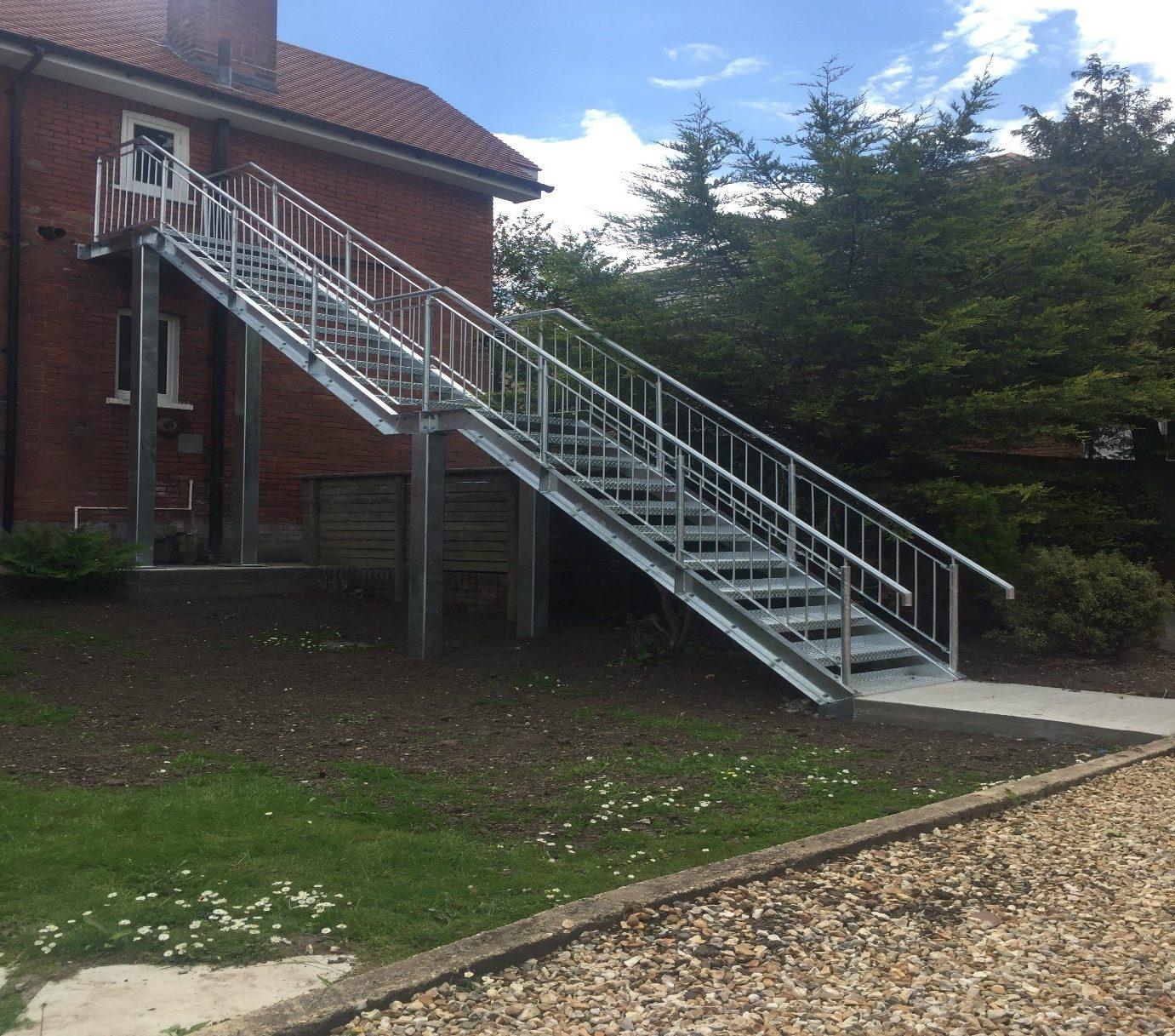 Steel staircase Southampton, Poole, Bournemouth & Dorset