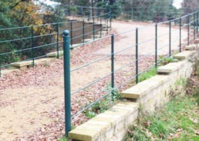 metal railings fabricated by Mortec Poole, Dorset